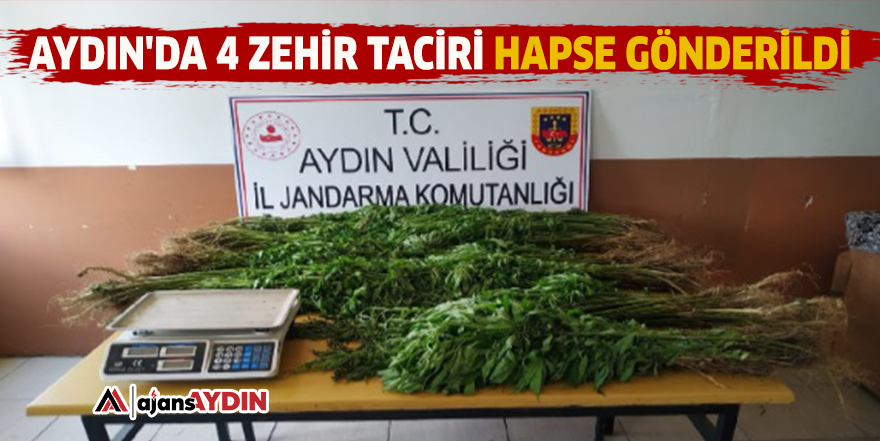Aydın'da 4 zehir taciri hapse gönderildi