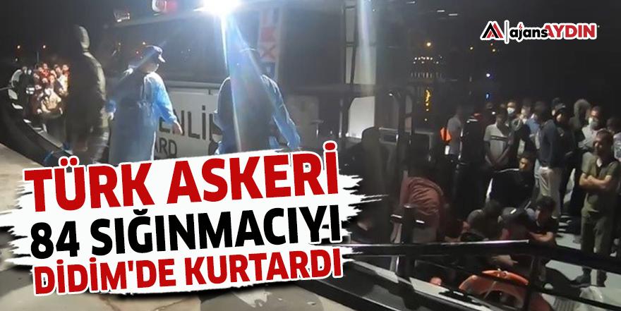 Türk Askeri 84 sığınmacıyı Didim'de kurtardı