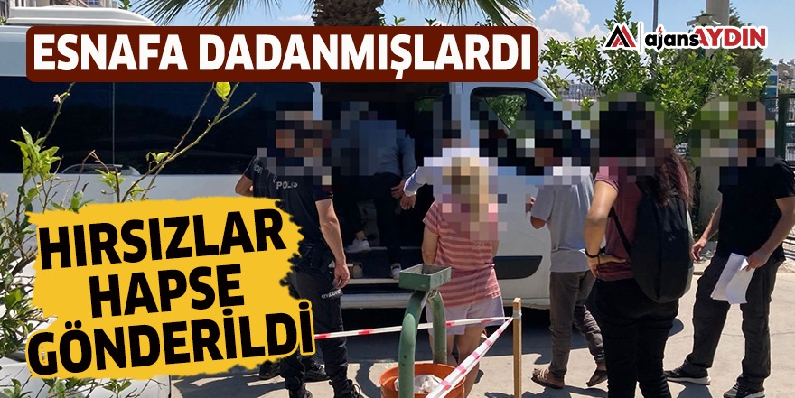 Didim'de esnafa dadanan hırsızlar hapse gönderildi