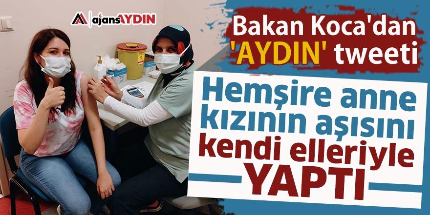 Bakan Koca'dan 'Aydın' tweeti
