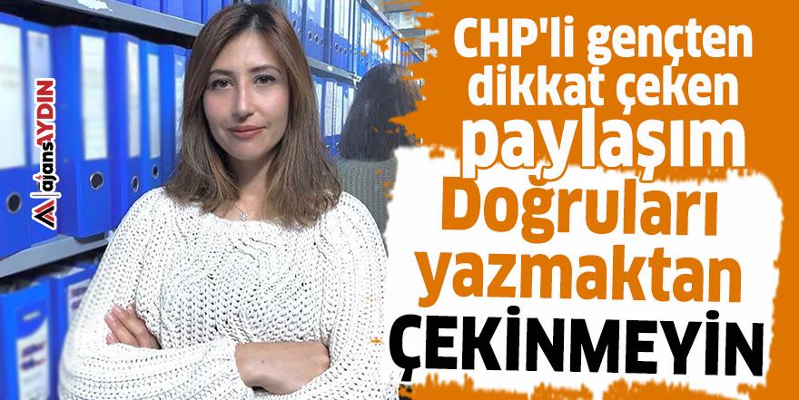 CHP'li gençten dikkat çeken paylaşım