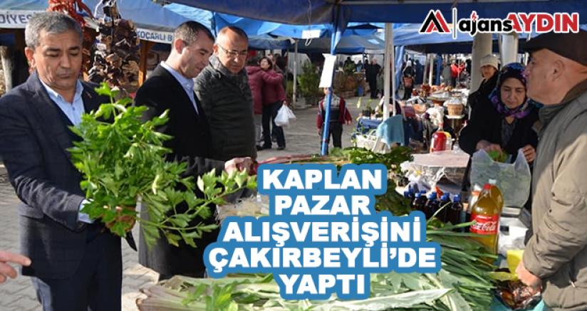 Kaplan Pazar Alışverişini Çakırbeyli'de Yaptı