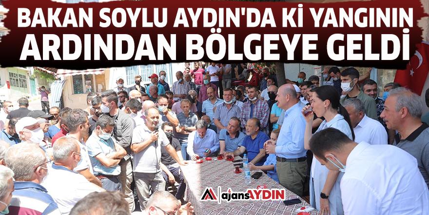 Bakan Soylu Aydın'da ki yangının ardından bölgeye geldi
