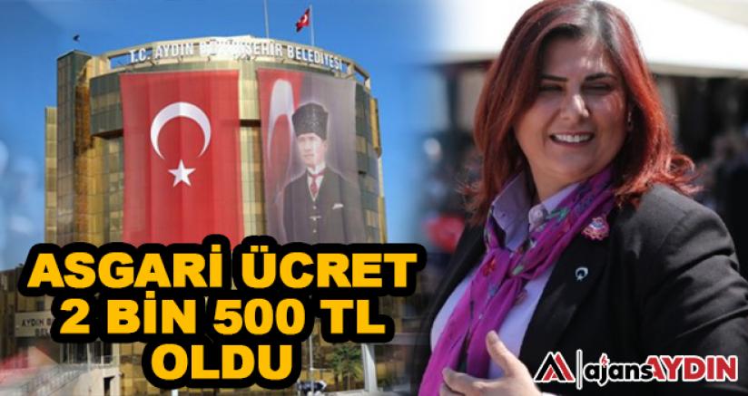 ASGARİ ÜCRET 2 BİN 500 TL OLDU