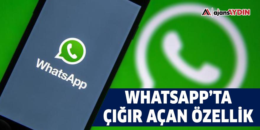 WhatsApp'ta çığır açan özellik