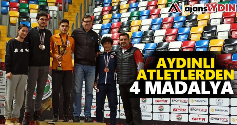 Aydınlı atletlerden 4 madalya