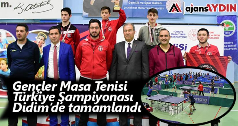 Gençler Masa Tenisi Türkiye Şampiyonası Didim'de tamamlandı