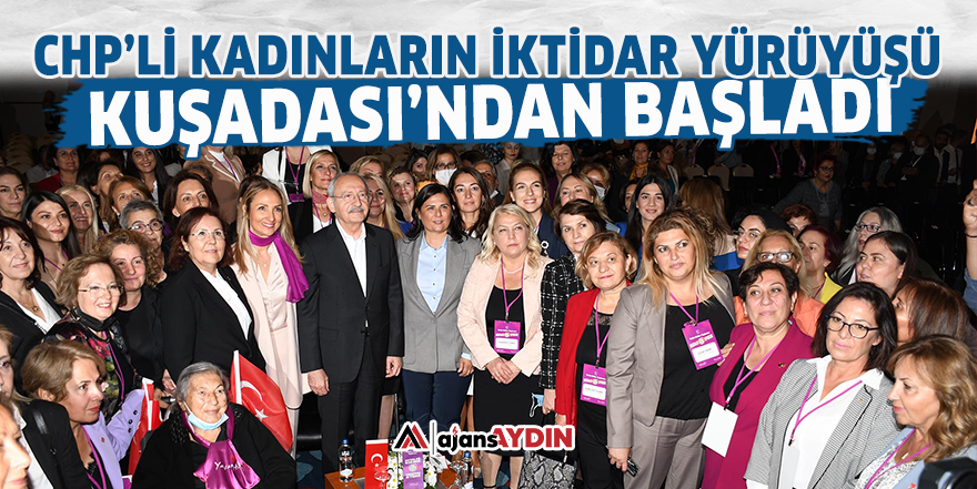 CHP'li kadınların iktidar yürüyüşü Kuşadası'ndan başladı