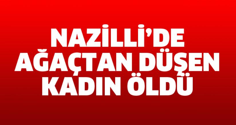 Nazilli'de ağaçtan düşen kadın öldü