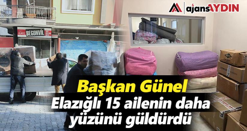 Başkan Günel Elazığlı 15 ailenin daha yüzünü güldürdü