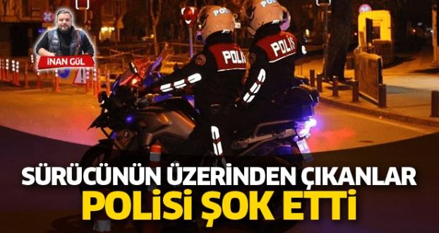 Polis Şaşırdı Kaldı 'Sürücünün Üzerinden Çıkanlar Şok Etti
