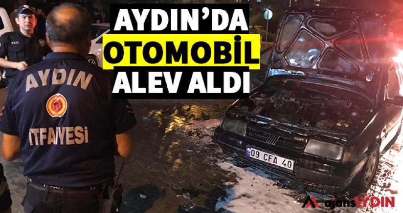 Aydın'da otomobil alev aldı