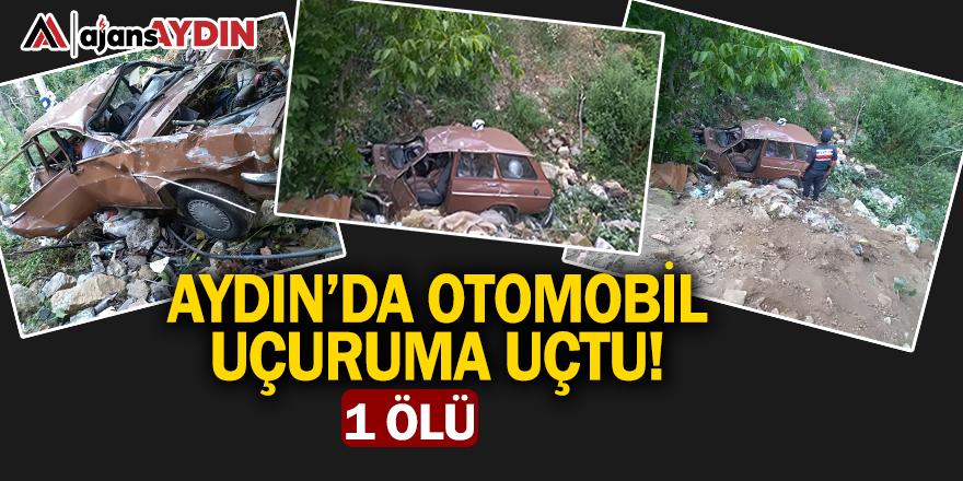 Aydın'da otomobil uçuruma yuvarlandı