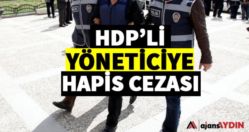 HDP'Lİ YÖNETİCİYE HAPİS CEZASI