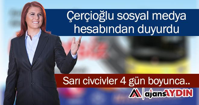 Çerçioğlu sosyal medya hesabından duyurdu