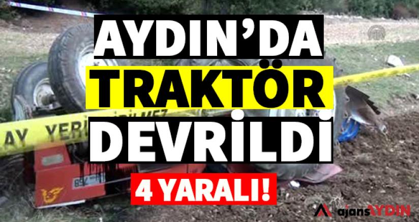 Aydın'da traktör devrildi