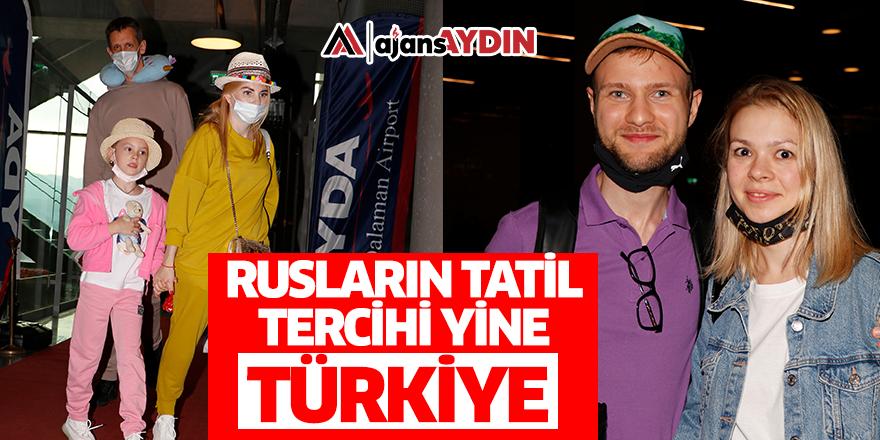 Rusların tatil tercihi yine Türkiye