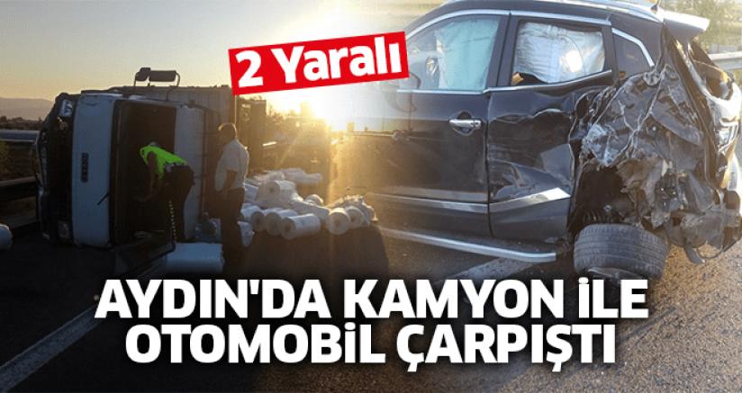 Aydın'da Kamyon İle Otomobil Çarpıştı