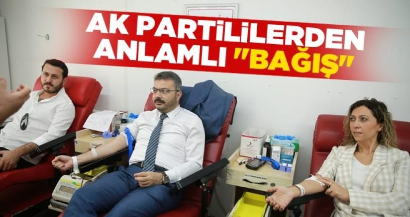 AK Partililerden Anlamlı Bağış