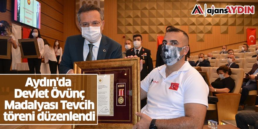 Aydın'da Devlet Övünç madalyası tevcih töreni düzenlendi