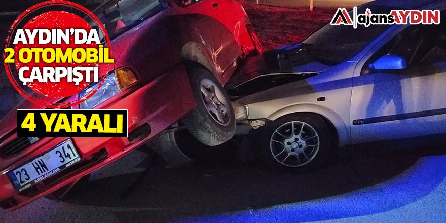 Aydın'da 2 otomobil çarpıştı / 4 yaralı