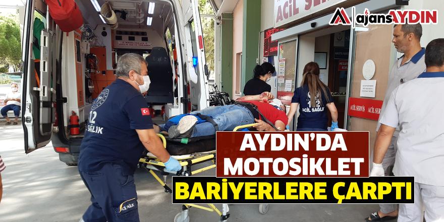 Aydın'da motosiklet bariyerlere çarptı