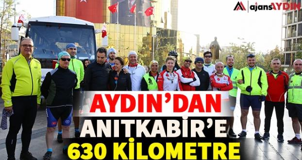 Aydın'dan Anıtkabir'e 630 kilometre