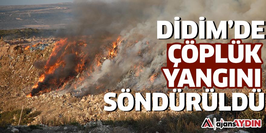 Didim'de çöplük yangını söndürüldü