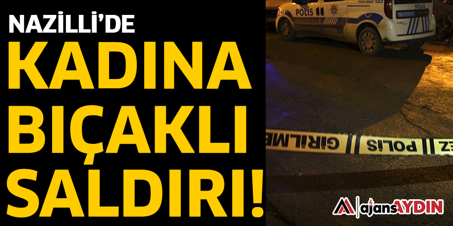 NAZİLLİ'DE KADINA BIÇAKLI SALDIRI