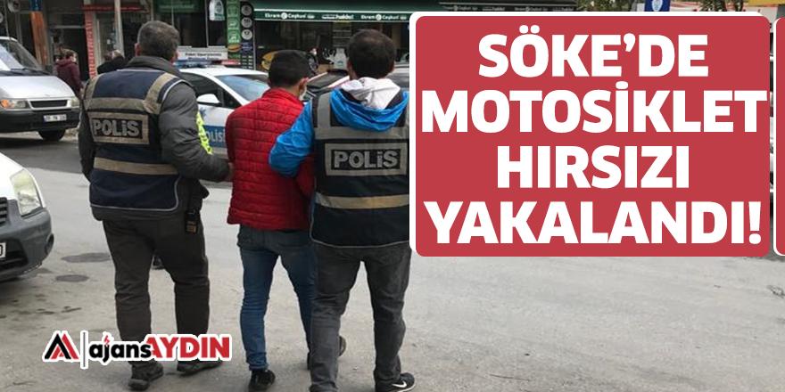 Söke'de motosiklet hırsızı yakalandı
