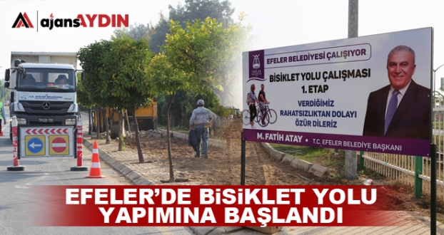 BİSİKLET YOLU YAPIMINA BAŞLANDI