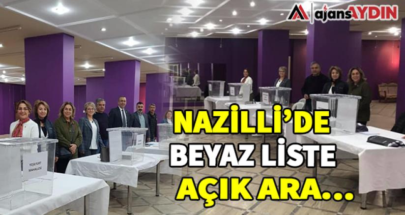 Nazilli'de beyaz liste açık ara