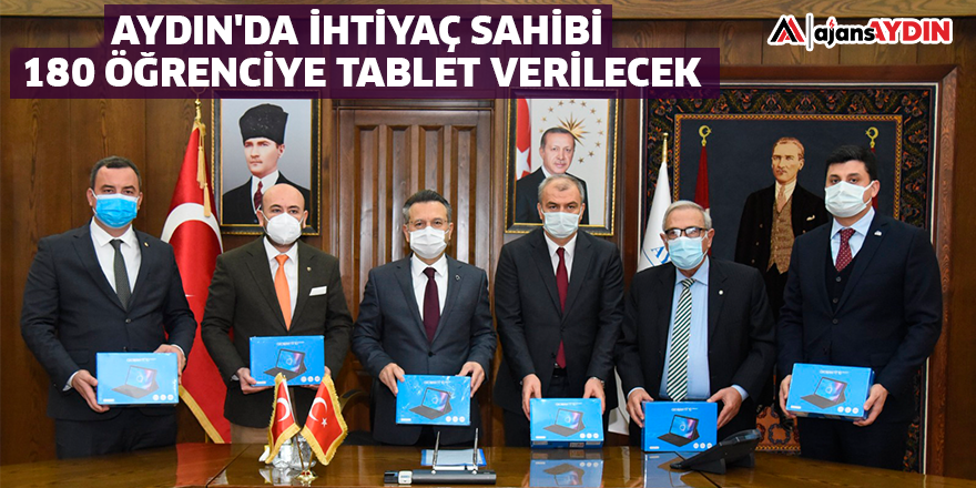 AYDIN'DA İHTİYAÇ SAHİBİ 180 ÖĞRENCİYE TABLET VERİLECEK