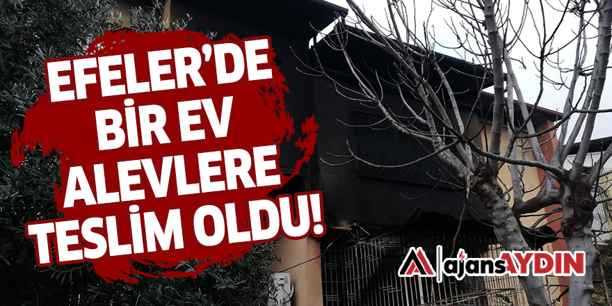 EFELER'DE BİR EV ALEVLERE TESLİM OLDU