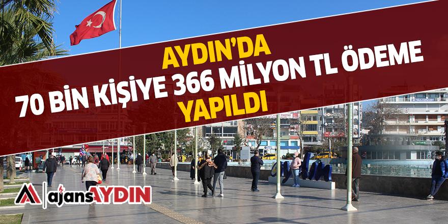 AYDIN'DA 70 BİN KİŞİYE 366 MİLYON TL ÖDEME YAPILDI