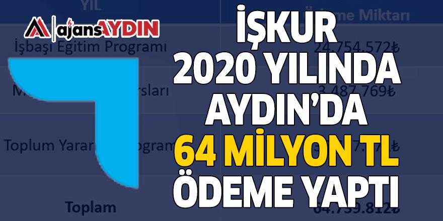 İŞKUR 2020 YILINDA AYDIN'DA 64 MİLYON TL ÖDEME YAPTI