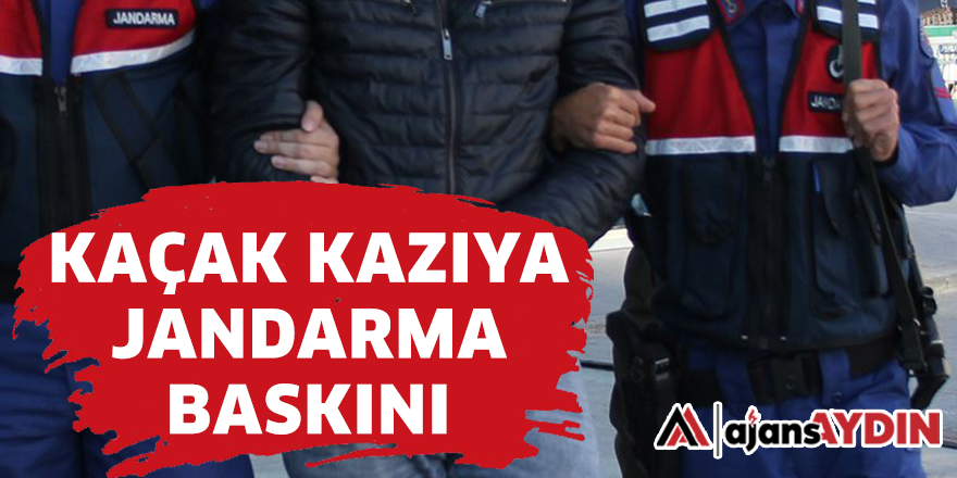 KAÇAK KAZIYA JANDARMA BASKINI