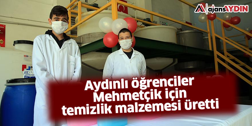 Aydınlı öğrenciler Mehmetçik için temizlik malzemesi üretti