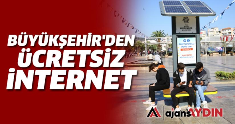 Büyükşehir'den ücretsiz internet