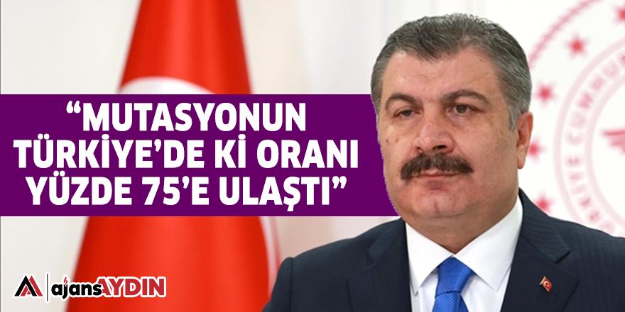 """""""MUTASYONUN TÜRKİYE'DE Kİ ORANI YÜZDE 75'E ULAŞTI"""""""