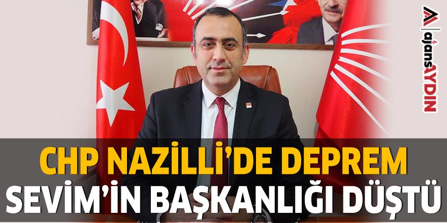 CHP NAZİLLİ'DE DEPREM