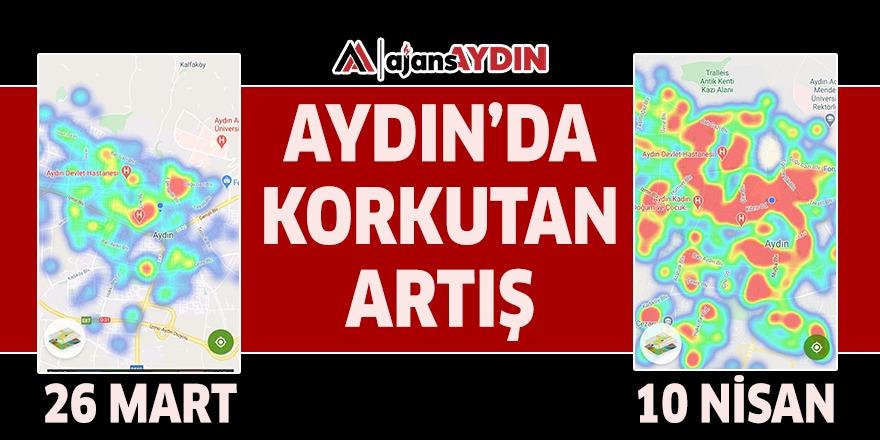 AYDIN'DA KORKUTAN ARTIŞ
