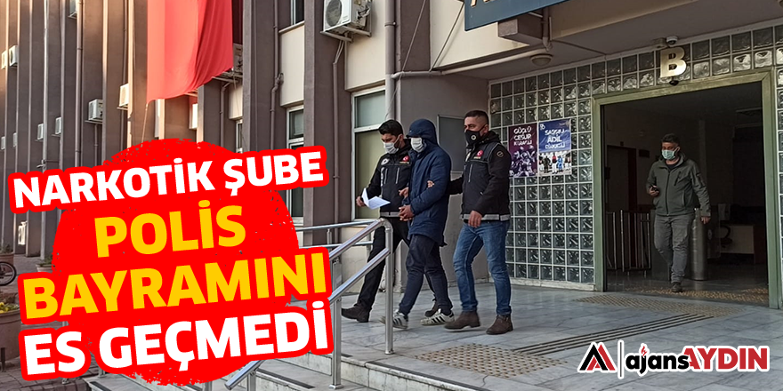 NARKOTİK ŞUBE POLİS BAYRAMINI ES GEÇMEDİ