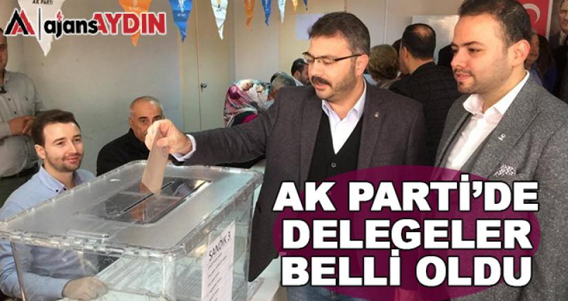AK Parti'de delegeler belli oldu