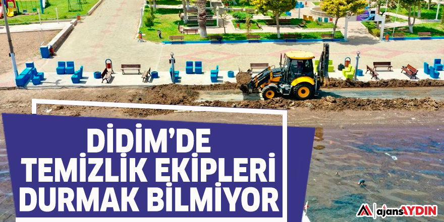 DİDİM'DE TEMİZLİK EKİPLERİ DURMAK BİLMİYOR