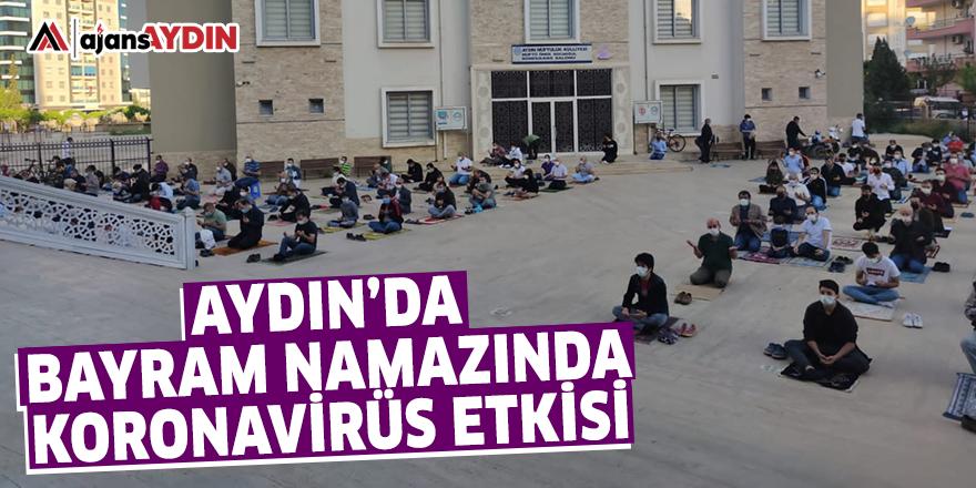 Aydın'da bayram namazında koronavirüs etkisi
