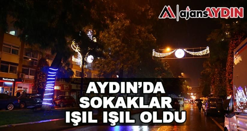 Aydın'da sokaklar ışıl ışıl oldu