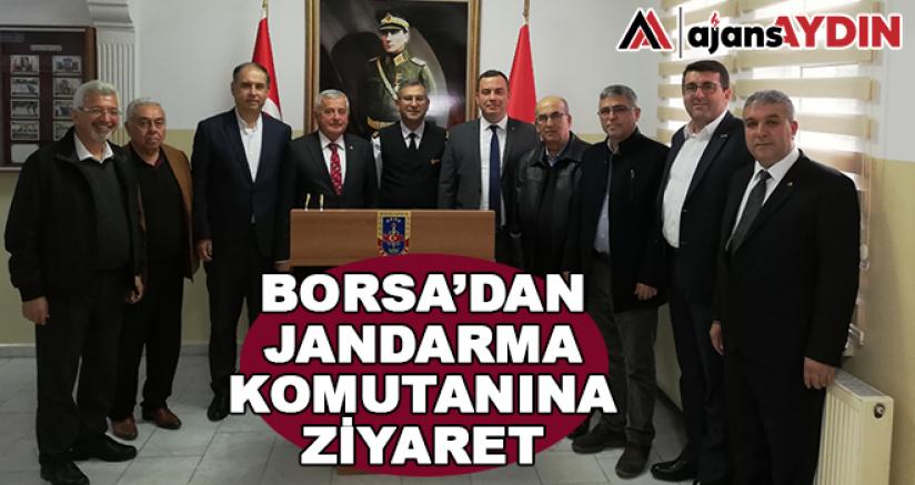 Borsa'dan Jandarma Komutanına Ziyaret