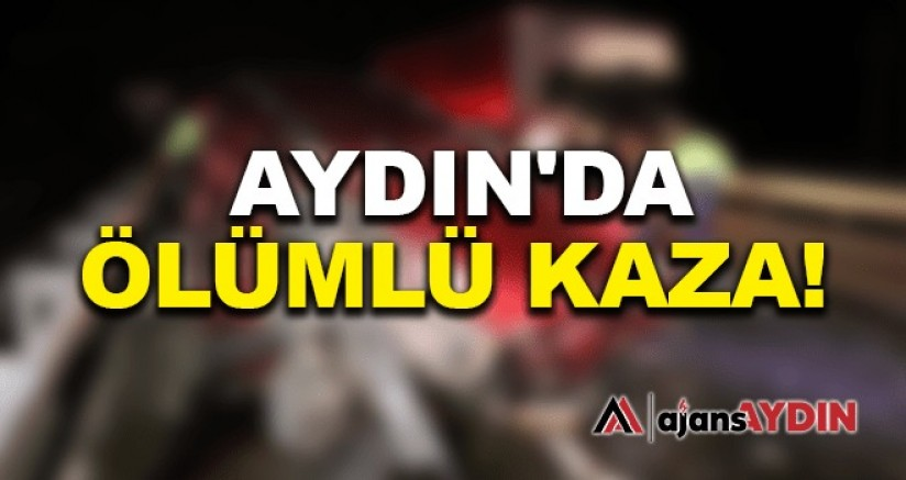 Aydın'da feci kaza 1 ölü 1 yaralı